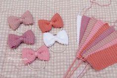 Watch The Video Splendid Crochet a Puff Flower Ideas. Wonderful Crochet a Puff Flower Ideas. Crochet Hair Bows, Crochet Puff Flower, Crochet Hair Accessories, Love Crochet, Crochet Flowers, Crochet Bow Pattern, Crochet Flower Patterns, Crochet Crafts, Crochet Projects