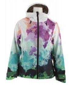 On Sale Volkl Manu Ski Jacket Watercolors Print - Womens 2013