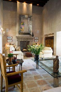 Breathtaking Luxury Vacation Rental in San Miguel de Allende Mexico | Casa del Oso love the tiled floor!