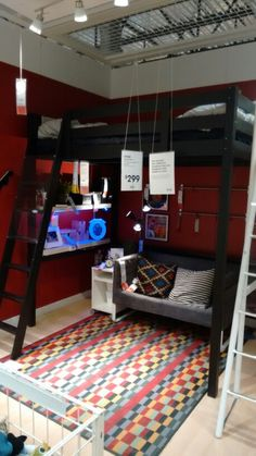 Rock star bedroom potential! IKEA.