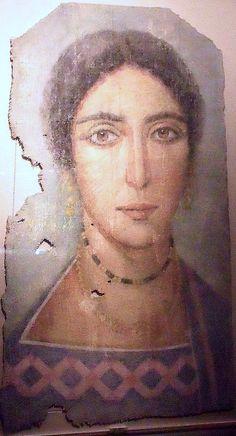 Fayum mummy portrait, Egypt, II-IIIe c. AD (Riom, Musée Mandet)