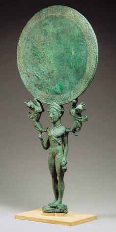 Etruscan bronze mirror, ca. 500 years B.C.