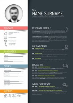 Free Creative Resume  Cv Template  Free Psd Files