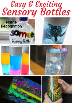 Sensory bottles are a must for any classroom or home! They're packed with benefits, like calming and encouraging curiosity. Nanny Activities, Sensory Activities, Infant Activities, Sensory Play, Sensory Table, Preschool Behavior, Preschool Lesson Plans, Preschool Themes, Sensory Bags