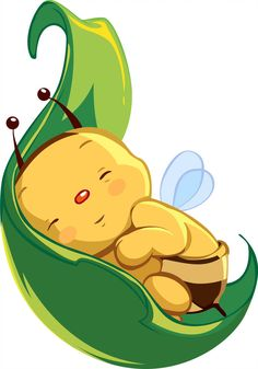 Thanks to the person behind the original image of this, i only trace this using Corel i love cute babies very much. Isn& this baby bee so cute? Bee Pictures, Bee Pics, Bee Drawing, Baby Bug, Cute Bee, Bee Art, Cute Clipart, Bee Happy, Bees Knees