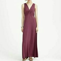 J.Crew knotted maxi dress ruby port burgundy NO TRADES J. Crew Dresses