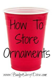 How to Store Christmas Ornaments | Budget Savvy Diva