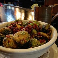 Brusselsprouts with bacon from sudhouse in washington DC.