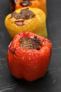 Bacon and Beef Stuffed Bell Peppers | Ruled Me