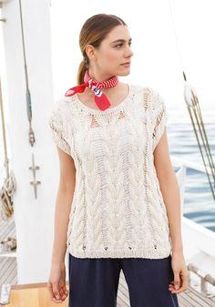 Lana Grossa PULLI IM ZOPF-FALLMASCHENMUSTER Portofino - FILATI Handstrick No. 67 - Modell 38   FILATI.cc WebShop Tricks, Knitwear, Peplum, Knitting, Crochet, Fashion, Silk, Threading, Cotton