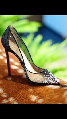 Christian louboutin Cinderella glass slipper