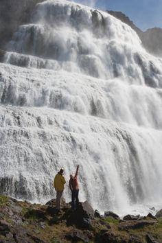 Dynjandi Waterfall Iceland.