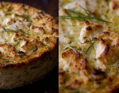 2 cups zucchini, unpeeled & grated  1 teaspoon fine grain sea salt  2 1/2 cups ricotta cheese  1/2 cup freshly shredded Parmesan cheese  2 shallots, chopped  2 cloves garlic, chopped  1/4 cup fresh dill, chopped  zest of one lemon  2 large eggs, well beaten  1/3 cup goat cheese, crumbled  drizzle of olive oil