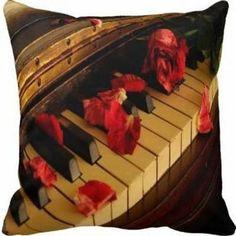 Capa de Almofada Música Vintage Piano