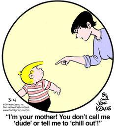 Family Circus for 3/4/2014 | Family Circus | Comics | ArcaMax Publishing.. U tell him mom