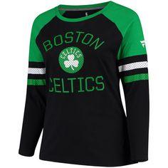 b94c741492e Women s Boston Celtics Fanatics Branded Black Plus Sizes Iconic Long Sleeve  T-Shirt