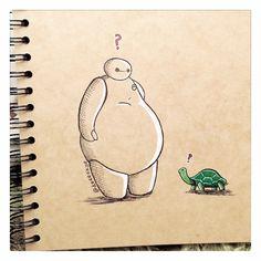 Baymax Meets a Turtle :) by DeeeSkye.deviantart.com on @DeviantArt