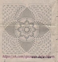 Delicadezas en crochet Gabriela: Manta maravillosa de motivos en crochet