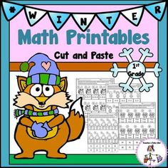 Winter Math Printables from Teachers Take Out on TeachersNotebook.com -  (21 pages)  - A Pack of Fun Math Printables for 1st Grade- Cut and Paste