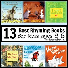 Best Rhyming Books for Kids Ages 5-8 - The Measured Mom