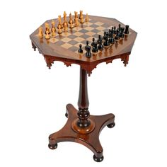 Victorian Rosewood Games Table. C1850