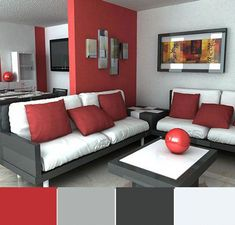 Red painted walls in living room red walls in living room decor Living Room Red, Elegant Living Room, Living Room Paint, Living Room Decor, Room Color Schemes, Room Colors, Bedroom Paint Design, Bedroom Red, Home Decor Colors