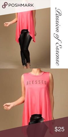 🆕 Coral Blessed Sleeveless Loose Top 🆕 Item In Stock 🆕 Coral Blessed Sleeveless Loose Fitted Top made in the USA 95% Rayon 5% Spandex Passion of Essense Tops Tees - Short Sleeve