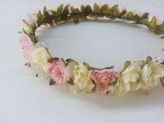 MISAKI II Light Pink Floral Headband by CosmicCrystal on Etsy