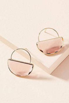 Anthropologie Rose Tint Hooped Post Earrings #ad