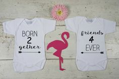 Twin Onesies Set, Gifts for Twins, Twins Baby Gifts, Twin Baby Shower, Twin Baby Outfits
