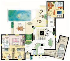 Découvrez les plans de cette maison fonctionnelle 1 sur www.construiresamaison.com >>>