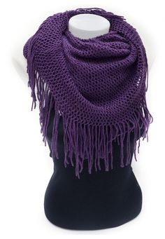 Purple Fringe Infinity Scarf---Not usually a lover of fringe but I really like this!