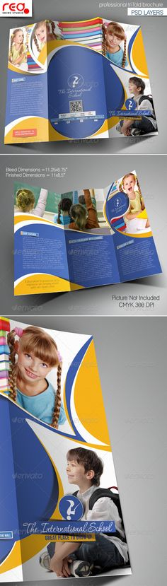 Junior School Promotion Trifold Brochure Template