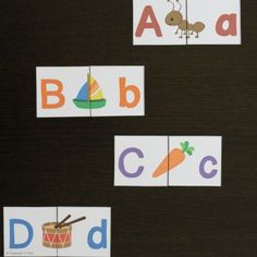 Work on upper and lowercase pairs AND letter sounds at the same time with these brilliant ABC puzzles.