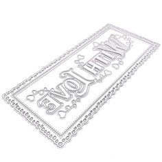 KSCRAFT Nesting Scalloped Slimline Frames Metal Cutting Dies Stencils for DIY Scrapbooking//Photo Album Decorative Embossing DIY Paper Cards