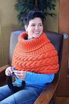 This cowl knits up really fast and is deliciously warm. Especially when you're sitting near a drafty window or under an a/c vent. Clementine is deep enough to provide good coverage while leaving your forearms and hands free to knit or type or do whatever!