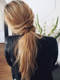 cool twist on your basic ponytail