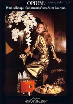 Jerry Hall for YSL, Opium, 1978