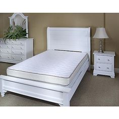 Innerspace Luxury Products InnerSpace 6-inch Sleep Luxury Reversible Twin XL Mattress Only - Quilted Both Sides