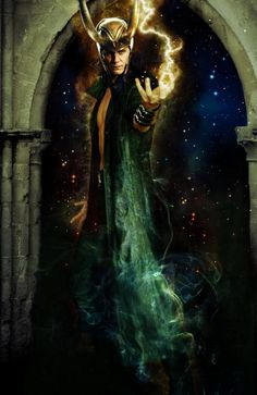 THE most scandalous of the Norse mythological gods is Loki.  Known as the God of Fire, the Trickster God, a shape-shifter, seducer of goddesses, and father of beastly offspring, his mischief eventually caused him eternal punishment. It is Loki who began the chain of events that lead to the destruction of the gods. He does this by causing the death of the beautiful Balder, the most-loved God.   I've always liked loki even before this movie there's just something about him.