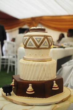 Traditional cake with pleats.