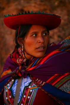 Colorful Woman In Peru