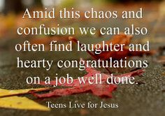 Teens live for Jesus: Scheduled chaos