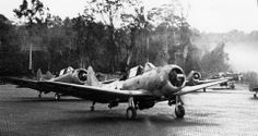 SBDs taxiing at Piva Uncle (Bougainville). Unknown unit. (Photo USMC)