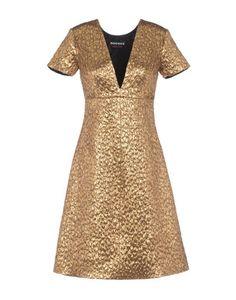 Rochas gold lame dress
