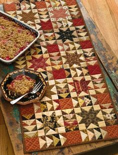 Rhubarb Crisp Runner By Jo Morton from Skinny Quilts and Table Runners II.