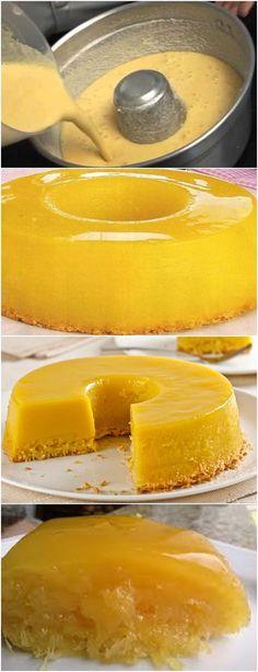 RECEITA DELICIOSA,FÁCIL DE FAZER E FICA SUPER LINDO!!(Quindão de Liquidificador) VEJA AQUI>>>Bata todos os ingredientes no liquidificador. 2. Coloque em uma fôrma de 22cm de diâmetro untada e polvilhada com açúcar. #receita#bolo#torta#doce#sobremesa#aniversario#pudim#mousse#pave#Cheesecake#chocolate#confeitaria Portuguese Desserts, Portuguese Recipes, Pudding Recipes, Cake Recipes, Easy Cooking, Cooking Recipes, Brazillian Food, Food Inspiration, Love Food