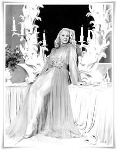 Adele Jergens 1940s actress in very pretty negligee
