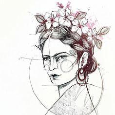 "CreatedIn BCN - Art Tattoo - Monica Sampietro ""Frida Kahlo"" 01"