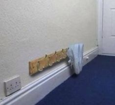 Short on space to store thing why not try this quick cheap and easy way to keep you shoes together and tidy, buy a normal coat hanger put it low down and hang your shoes and trainers, you can choose how many rows you want and need x